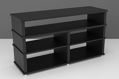 Стойка под ТВ и аудио-видео аппаратуру Hardness 1365-Black
